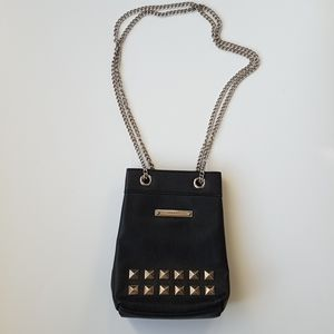 NINE WEST Shoulder / Crossbody Black Chain Purse